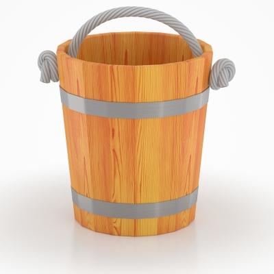 Ведро для бани BentWood из лиственницы с двухсторонним полимерным покрытием