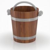 Ведро для бани  BentWood из лиственницы мореной с двухсторонним полимерным покрытием