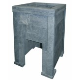 Облицовка из талькохлорита Оптима 980 мм с тоннелем и порталом для дровяной печи Kastor KS (Ksis)27