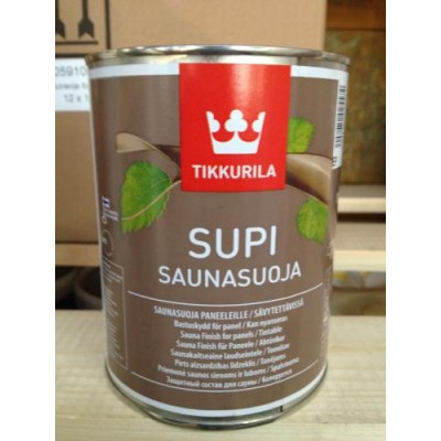 Пропитка антисептическая Supi Saunasuoja для стен и потолка, Финляндия, 0.9л