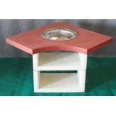 Угловой столик с мойкой (мойка в комплекте) Афина