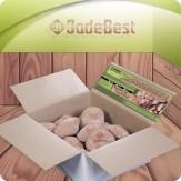 Малиновый кварцит галтованный для бани и сауны, 1 кг в бумажном коробе