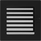 Вентиляционная решетка Kratki каминная Черная с жалюзи (17*17) 17CX