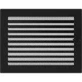 Вентиляционная решетка Kratki каминная Черная с жалюзи (22*30) 22-30CX