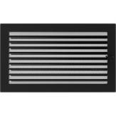 Вентиляционная решетка Kratki каминная Черная с жалюзи (22*37) 22-37CX