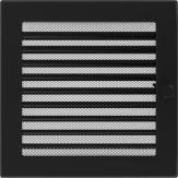 Вентиляционная решетка Kratki каминная Черная с жалюзи (22*22) 22CX