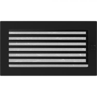 Вентиляционная решетка Kratki каминная Черная с жалюзи (17*30) 30CX