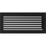 Вентиляционная решетка Kratki каминная Черная с жалюзи (17*37) 37CX