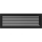 Вентиляционная решетка Kratki каминная Черная с жалюзи (17*49) 49CX