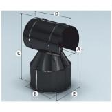 Оголовок дымохода Agni эмалированный с зонтом d-120*200 мм