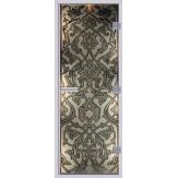 Стеклянная дверь в хамам АКМА 60G с рисунком Восточный-2 690*1890