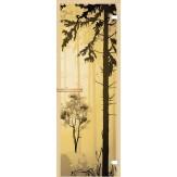 Дверь из стекла для саун и бань AKMA 700*1900 Лес полноцвет
