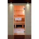 Стеклянная дверь для сауны Aldo Оптима 690*1890 прозрачная, коробка бук