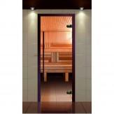 Стеклянная дверь для бани и сауны Aldo Премиум 690*1990 прозрачная, ручка 1184 мм