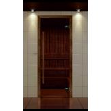 Стеклянная дверь для сауны Aldo Премиум 690*1890 бронза, коробка термобук