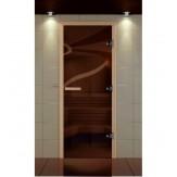 Стеклянная дверь для бани и сауны Aldo Стандарт Плюс бронза прозрачная 690*1890