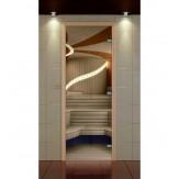 Стеклянная дверь для бани и сауны Aldo Стандарт Плюс прозрачная 690*1890