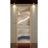 Стеклянная дверь для бани и сауны Aldo Стандарт Плюс сатин 690*1890