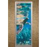 Стеклянная дверь для турецкой бани хамама Aldo с фотопечатью 790*1990