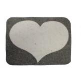 Коврик-сидушка для бани и сауны из войлока Светлое сердце, Бацькина баня