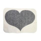Коврик-сидушка для бани и сауны из войлока Темное сердце, Бацькина баня