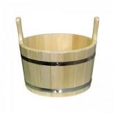 Ушат для бани деревянный из липы 15л