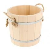 Запарник для бани деревянный из липы с пластиковой вставкой 9 л