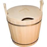 Запарник с крышкой для бани деревянный из липы 25л