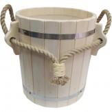 Запарник для бани деревянный из липы  с пластиковой вставкой 13 л