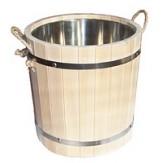 Запарник для бани деревянный со вставкой из нержавеющей стали 20л
