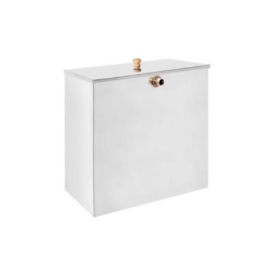 Бак для нагрева воды из нержавеющей стали AISI 439 80л под контур прямоугольный