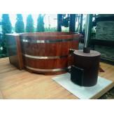 Купель из лиственницы с подогревом D-1800мм мощность печи 40 кВт