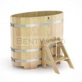 Купель из кедра Bentwood овальная 0,69*1,31*1,2 м