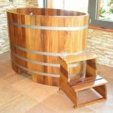 Купель для сауны и бани Blumenberg 130*79 из лиственницы вариант 1