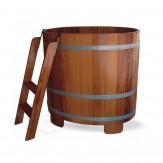 Купель для сауны и бани Blumenberg 110*77 из лиственницы вариант 1
