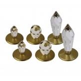 Набор светодиодных кристалов Cariittii Crystal Kit 6 (2 х CR-12, 2 х CR-16 и 2 х CR-31) Хром 1532621