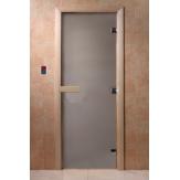Дверь для бани и сауны DoorWood стекло матовое цвет сатин 180*60 коробка ольха