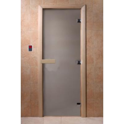 Дверь для бани и сауны DoorWood стекло матовое цвет сатин 190*70 коробка ольха