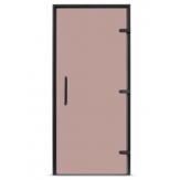 Дверь для Сауны или Хамама EOS 2100*800 прозрачное стекло цвета бронзы
