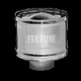 Зонт-Д с ветрозащитой Ferrum d=115 мм из стали AISI 430 0,5мм