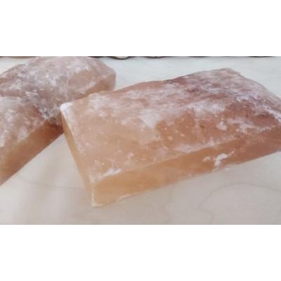 Плитка (блок) из гималайской соли  необработанная 20*20*2,5 1шт