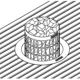 Монтажный фланец HPC1, нерж. для Cilindro (в полок) накладной
