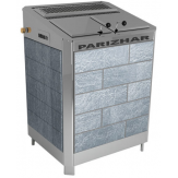 Электрическая паротермальная печь Пар и Жар 18 кВт в облицовке из талькохлорита антик