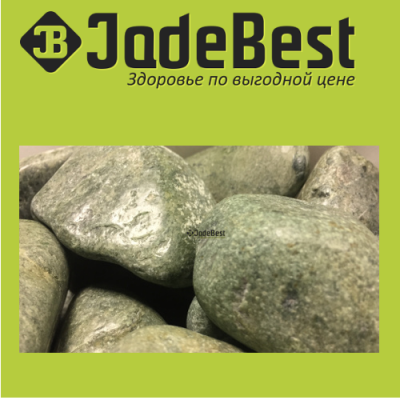 Камни для бани жадеит полированный