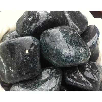 Пироксинит шлифованный камень для бани и сауны 1кг в экологичной упаковке