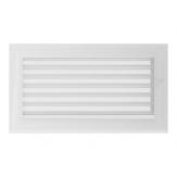 Вентиляционная решетка Kratki каминная Оскар белая с жалюзи (17*30) 30OBX