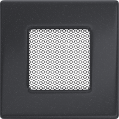 Вентиляционная решетка  Kratki Графит  (11*11) 11G