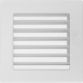 Вентиляционная решетка Kratki каминная Белая с жалюзи (17*17) 17BX