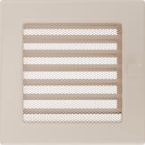 Вентиляционная решетка Kratki каминная Кремовая с жалюзи (17*17) 17KX