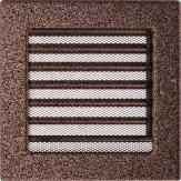 Вентиляционная решетка Kratki каминная Латунь с жалюзи (17*17) 17MX
